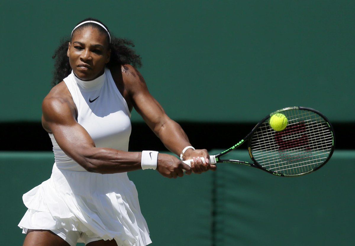 serena williams all amped up for angelique kerber wimbledon