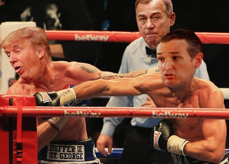 ted cruz continues landing punches at trump