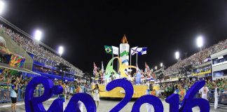 2016 Rio Olympics opening ceremony focusing on Brazil and environment sports images