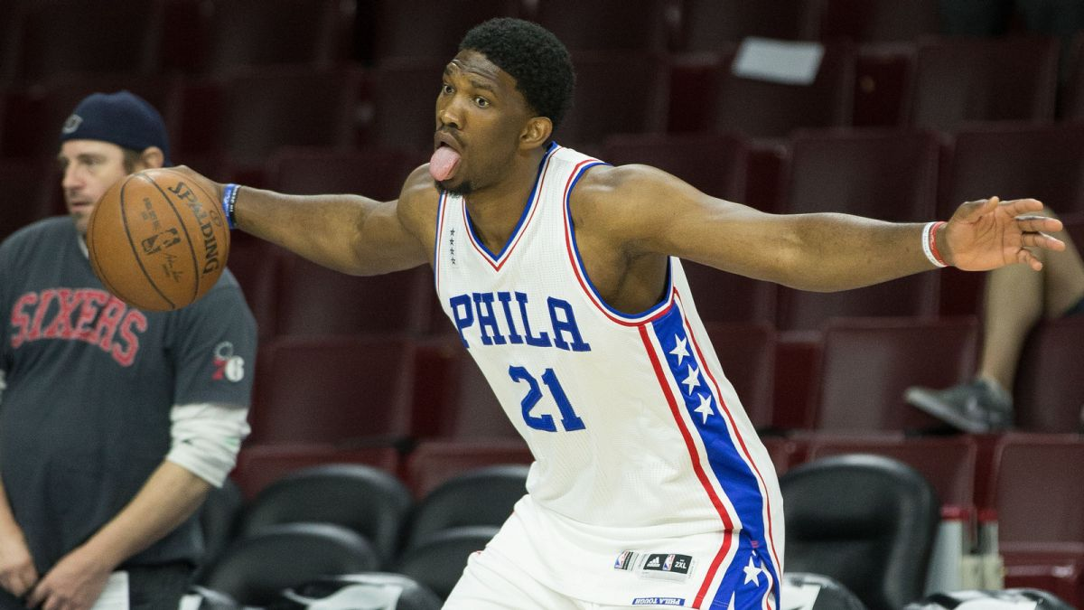 76ers Joel Embiid finally ready for NBA debut two seasons later 2016 images