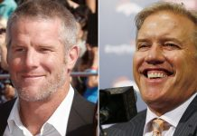 Brett Favre dominates news, while John Elway grinds 2016 images