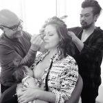 alyssa milano nursing baby
