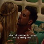 bachelor in paradise josh and amanda skittle kiss