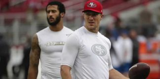 blaine gabbert vs colin kaepernick begins at 49ers training camp 2016 images