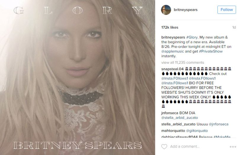 britney spears glory album cover art