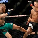conor mcgregor leg hit on nate diaz ufc 202