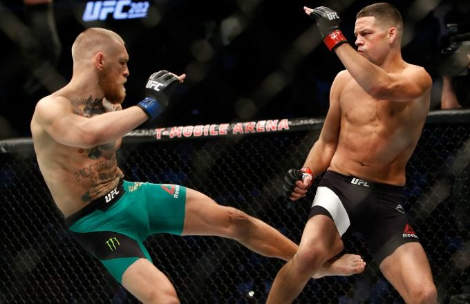 Nate Diaz's Legend Grows even in Conor McGregor UFC 202 Loss 2016 images