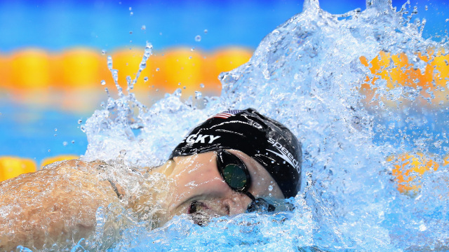 katie ledecky wins third gold medal at rio olympics 2016 images