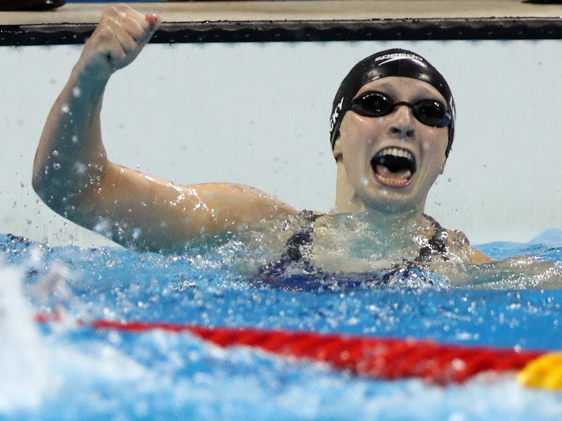 katie ledecky wins gold medal swimming rio olympics
