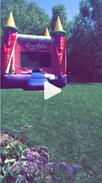 king kylie jenner bouncy house 2016