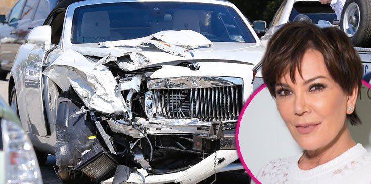 kris jenner car accident 2016 images