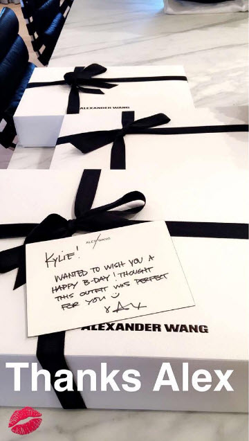 kylie jenner birthday gift from alexander wang