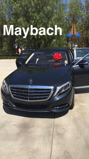 kylie jenner mercedes birthday from tyga