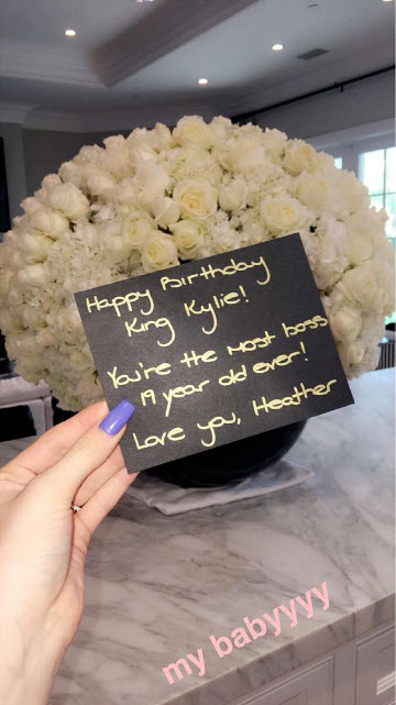 kylie jenner peonies and roses birthday