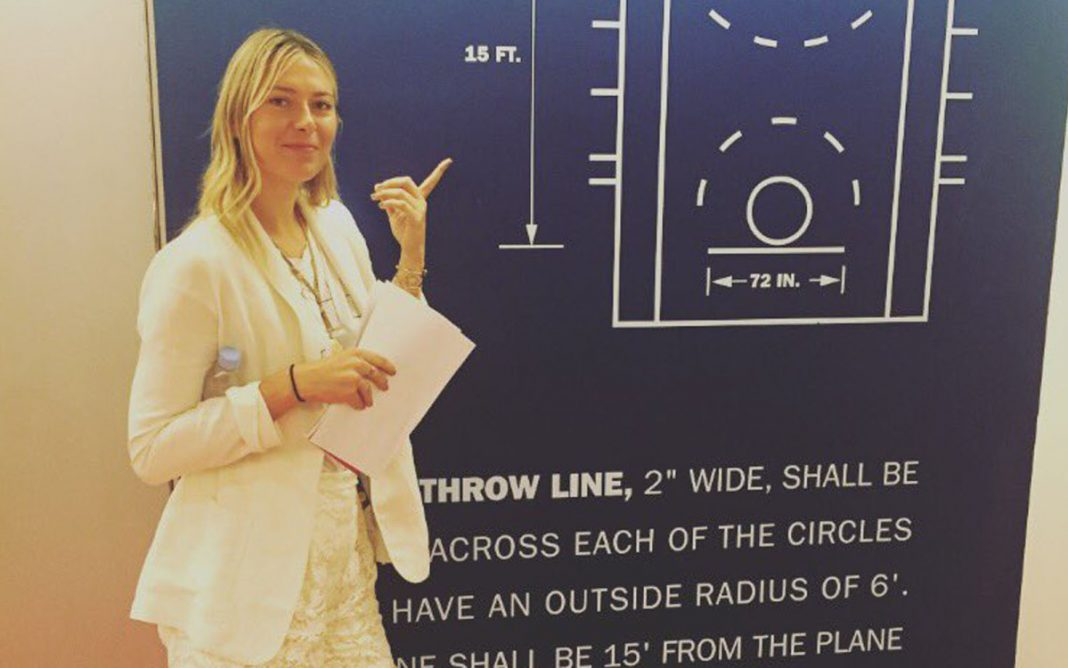 maria sharapova tries nba during tennis suspension 2016 images