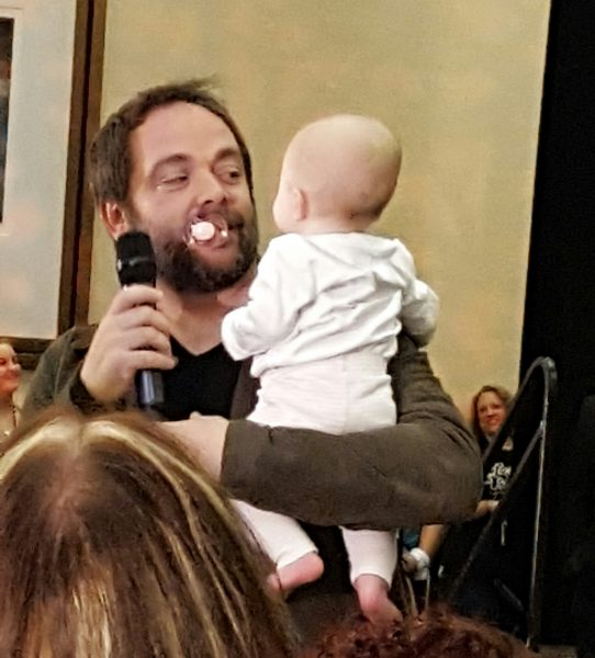 mark sheppard crowley on supernatual with his baby