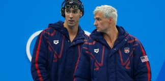 michael phelps and ryan lochte thirteen year rivalry ends at rio olympics 2016 images