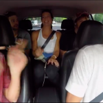 michael phelps and swim team do carpool karaoke