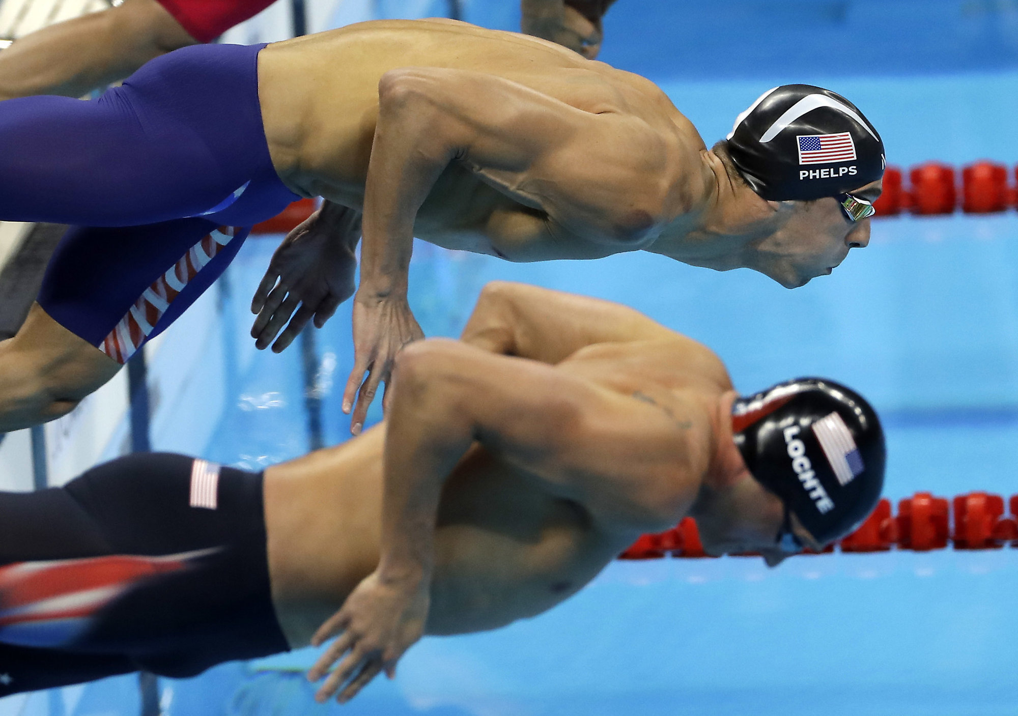 michael phelps vs ryan lochte at ri olympics