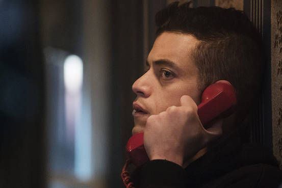 mr robot rami malik red phone