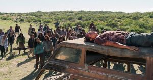 nick on car fear the walking dead grotesque