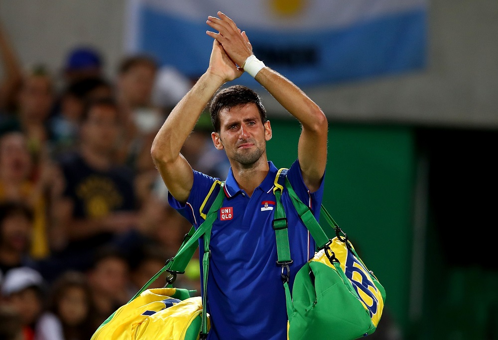 novak djokovic out of rio olympics after loss to juan martin del potro 2016 images