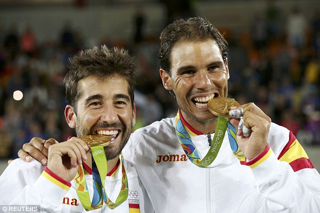 rafael nadal secures gold medal in mens doubles rio olympics