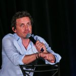 rob benedict sitting talking at supernatural convention