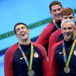 ryan lochte medal bulge with michael phelps rio