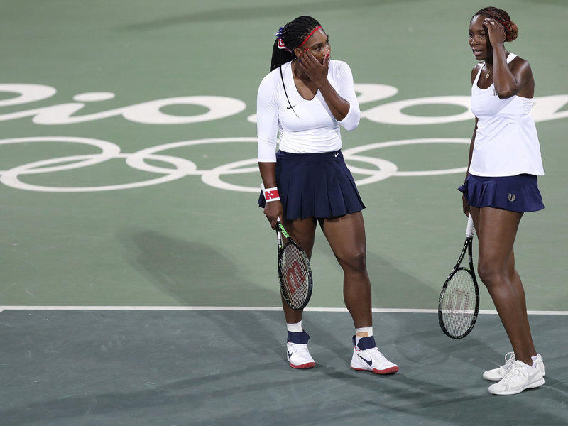 serena and venus williams lose rio olympics