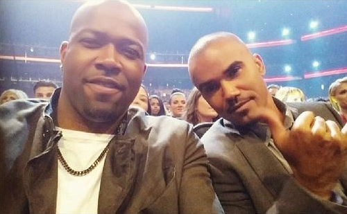 shemar moore with theif keith tisdeell