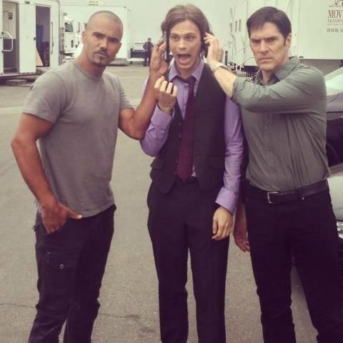 shemar moore with thomas gibson