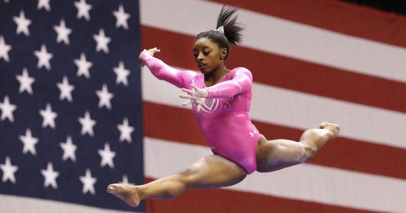 simone biles at rio olympics gymnastics 2016