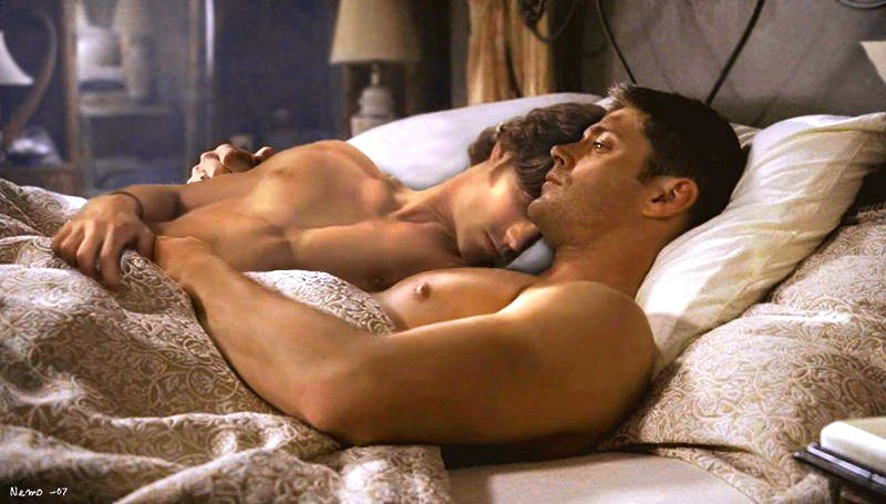 supernatural guys in bed 2016