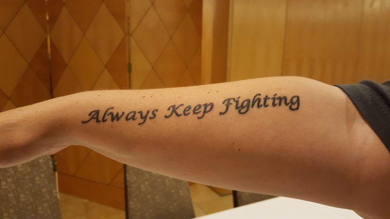 supernatural keep fighting tattoo