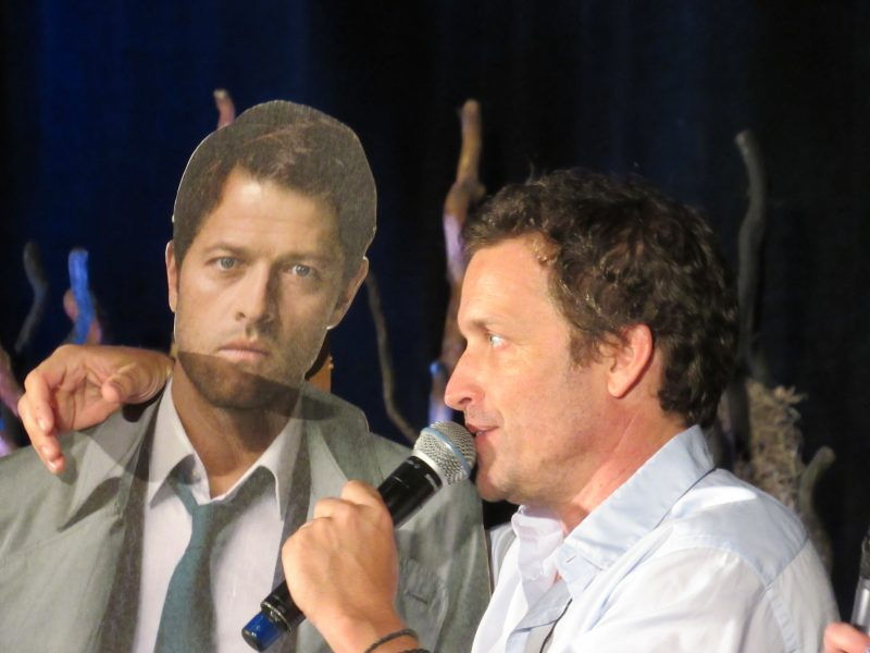 supernatural rob benedict talking to misha collins cut out