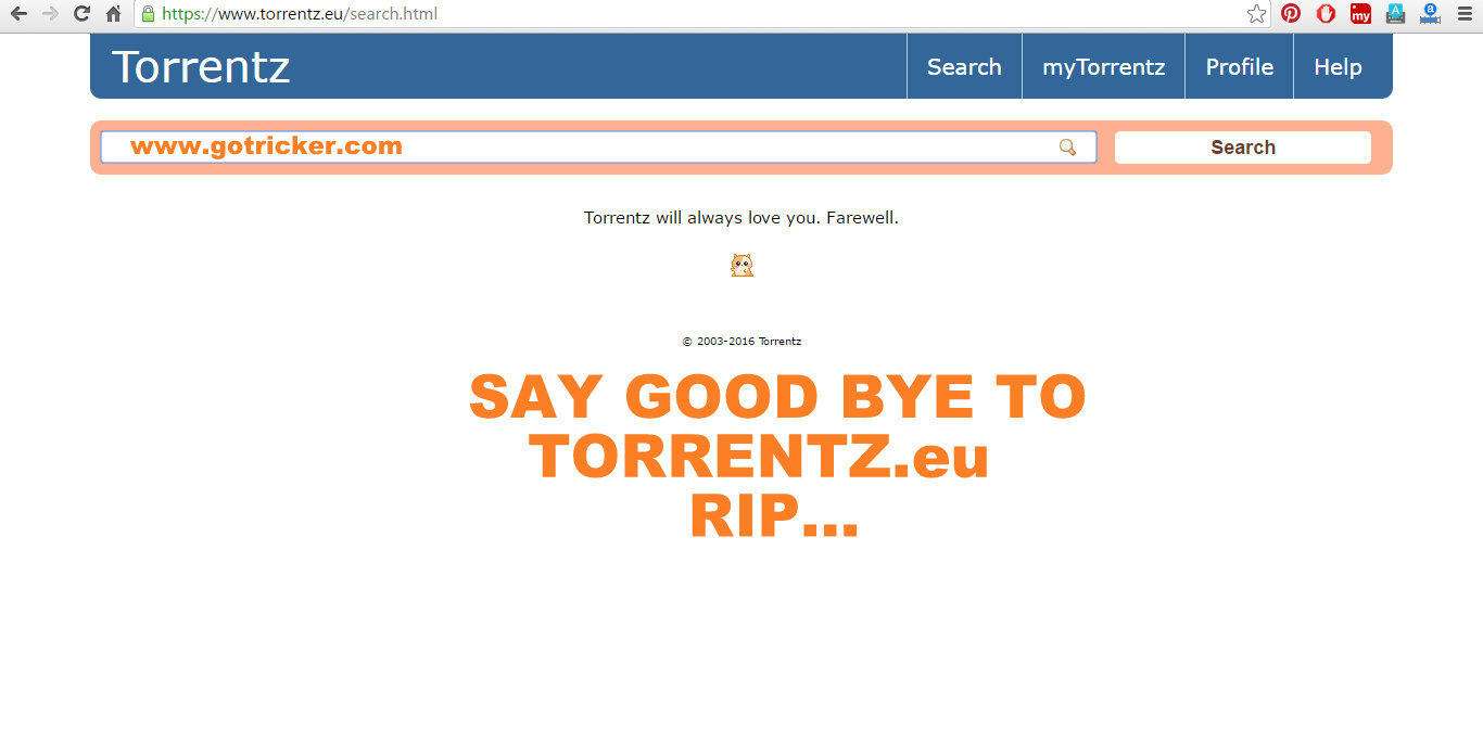 torrentz will always love you farewell