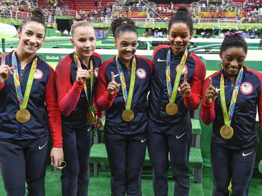 us gymnastics team wins gold at rio