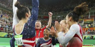 U.S. Gymnastics tam aka Final Five win gold at Rio Olympics 2016 images