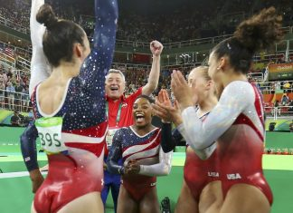 U.S. Gymnastics tam aka Final Five win gold at Rio Olympics 2016 images