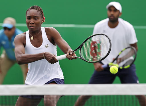 venus williams with rajeev ram rio olympics tennis