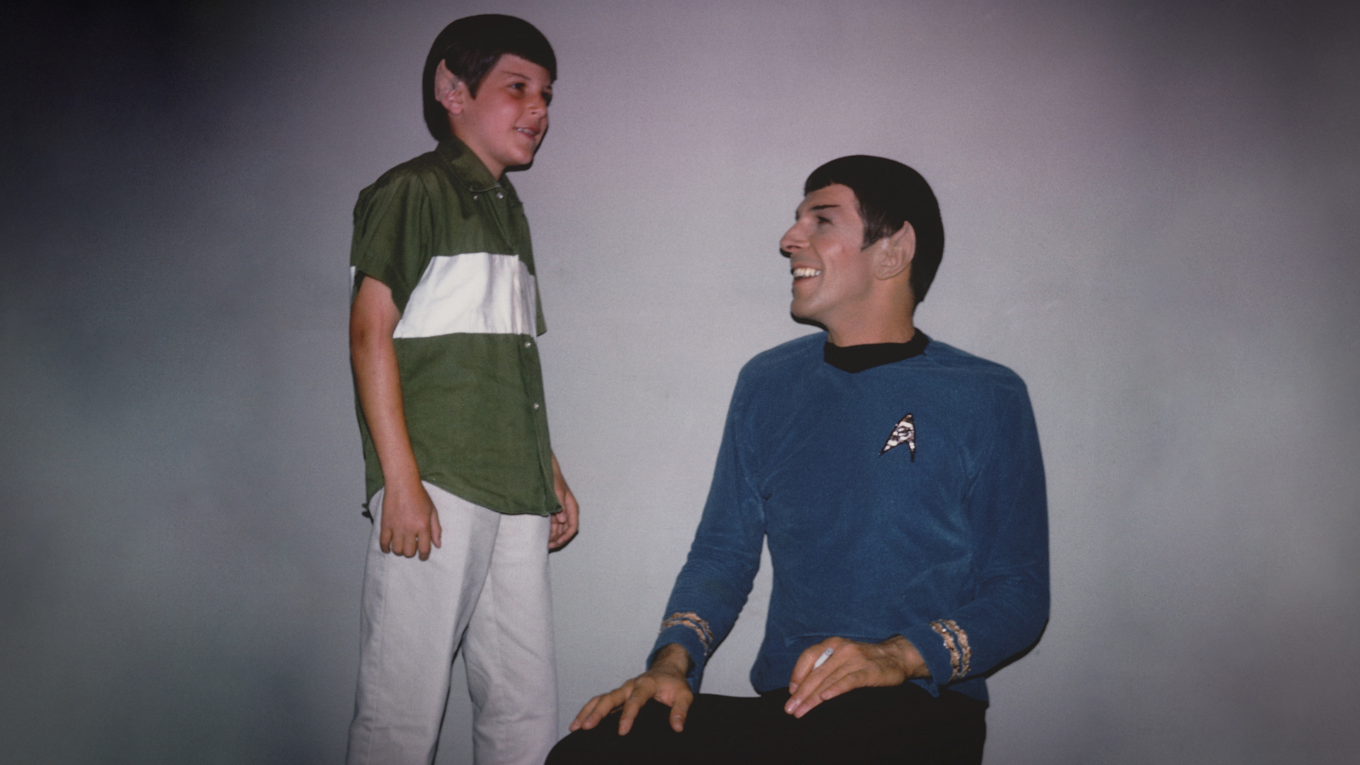 adam nimoy with leonard spock