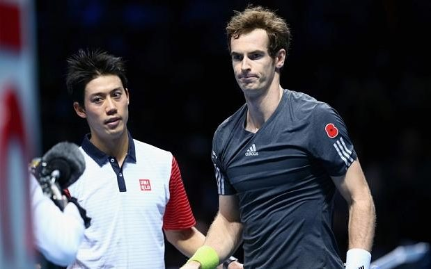 andy murray vs kei nishikori at us open 206