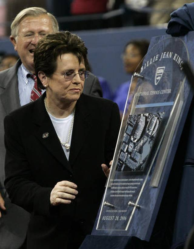 Billie Jean King speaks on Serena Williams, Roger Federer and being a Poke Stop 2016 images