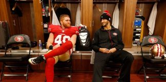 bruce miller assault and colin kaepernick protest giving 49ers tough week 2016 images