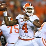 clemson tigets holding to no 2 spot