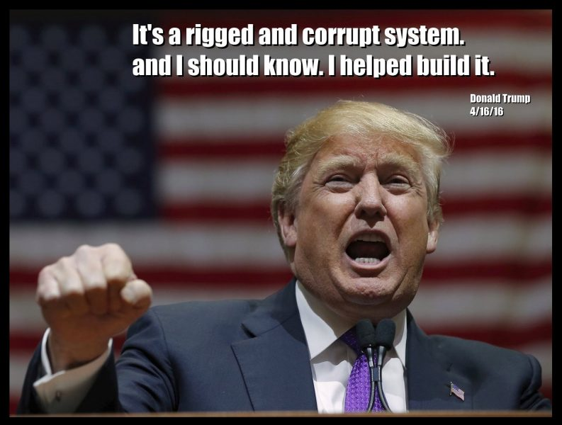 donald trump rigged system