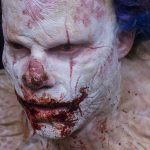 eli roth clown eating movie images 2016