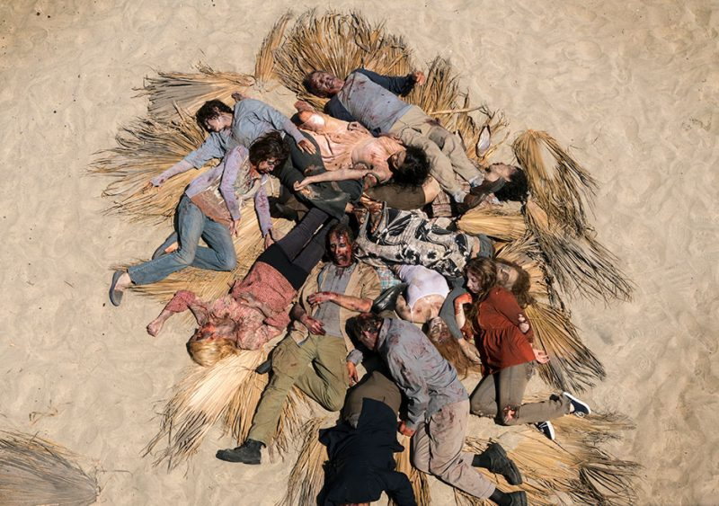 fear the walking dead 211 clearing up zombies on beach