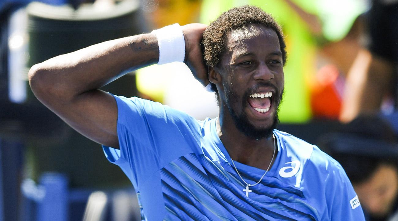 lucas pouille vs gael monfils 2016 us open quarterfinals tennis images
